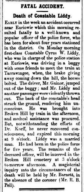Death of Constable Liddy